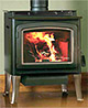 Our stoves up to 94% efficient. Grandview 230 wood stove featured here