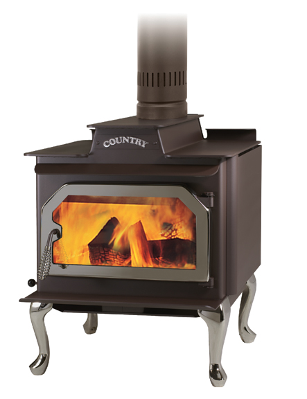 Fireside Stove - Country Performer SS/ST210 Free Standing Wood Stove